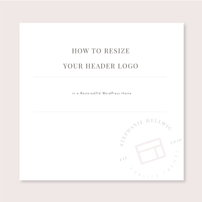 How to resize the header logo in a Restored316 WordPress theme
