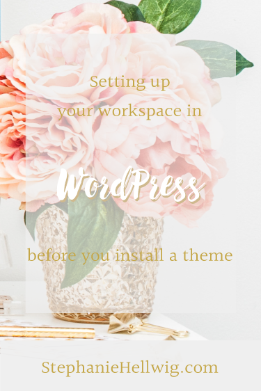 Setting up your wordpress workspace
