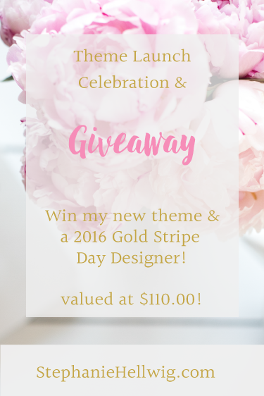 WordPress Child Theme Launch & Day Designer Giveaway