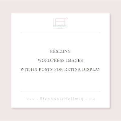 Resizing WordPress images within posts for retina display
