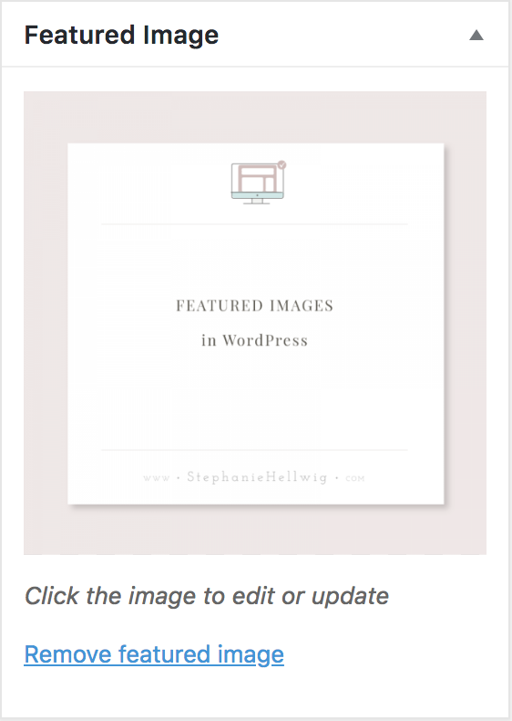 How to set a WordPress featured Image 3